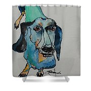 Claire In Blue Shower Curtain