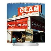 Clam Bar, East Hampton Shower Curtain