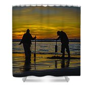 Clam Dig Pair Shower Curtain