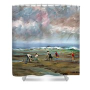 Clam Diggers - Sold Shower Curtain