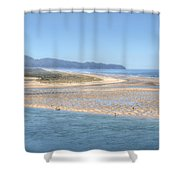 Clam Digging Morning 0200 Shower Curtain