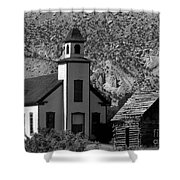 Clapboard Church 1898 Shower Curtain