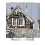 Clapboards And Tar Paper Shower Curtain