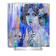Clara Bow I'll See You In New York Shower Curtain