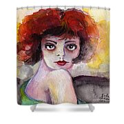 Clara Bow Vintage Movie Stars The It Girl Flappers Shower Curtain
