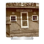 Clara's Sandwich Shop Shower Curtain