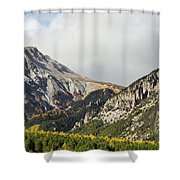 Claree Valley In Autumn - 12 - French Alps Shower Curtain