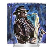 Clarence Clemons Shower Curtain by Clara Sue Beym