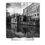Clarence Mill, Bollington, England Shower Curtain