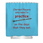 Clarinets Practice When They Eat Shower Curtain