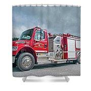 Clarks Chapel Fire Rescue - Engine 1351, North Carolina Shower Curtain