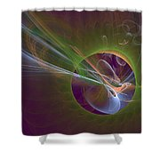 Clash Of Energy Shower Curtain