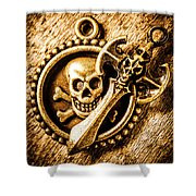 Clash Of The Dead Shower Curtain
