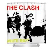 Clash White Riot  Shower Curtain