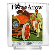 Classic American Car Pierce Arrow 6 Cyl Convertible Ad Shower Curtain