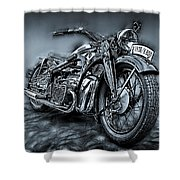 Classic Bike Shower Curtain
