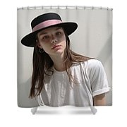 Classic Boater Hat Shower Curtain