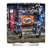 Classic British Bikes Shower Curtain