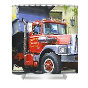 Classic Brockway Dump Truck Shower Curtain