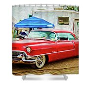 Classic Cadillac Shower Curtain