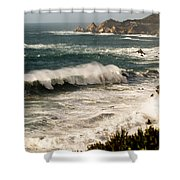 Classic California Surf Shower Curtain