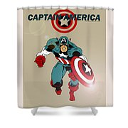 Classic Captain America Shower Curtain by Mista Perez Cartoon Art
