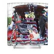 Classic Car Decor Day Of The Dead  Shower Curtain
