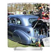 Classic Car Decorations Day Dead  Shower Curtain