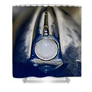 Classic Car Fender And Light Shower Curtain