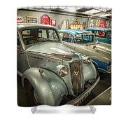 Classic Car Memorabilia Shower Curtain