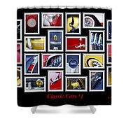 Classic Car Montage Art 1 Shower Curtain