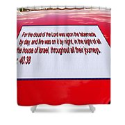 Classic Car With Text Shower Curtain