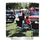 Classic Cars Day Of The Dead II Shower Curtain