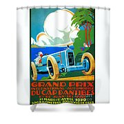 Classic Cars Motor Racing Grand Prix French Riviera 1929  Shower Curtain