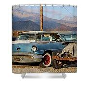 Classic Chevy True Blue Shower Curtain