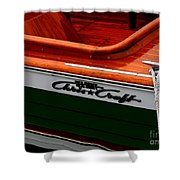 Classic Chris Craft Sea Skiff Shower Curtain