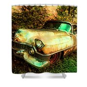 Classic Country Cadillac Painting  Shower Curtain