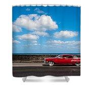 Classic Cuba Car V Shower Curtain
