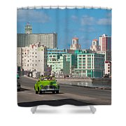 Classic Cuba Car Vi Shower Curtain