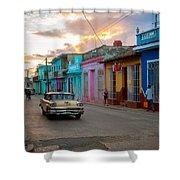 Classic Cuba Cars X1 Shower Curtain