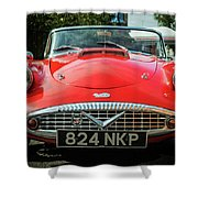 Classic Daimler Sports Car Shower Curtain by Nick Bywater
