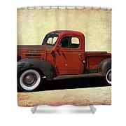 Classic Dodge Pickup Truck Shower Curtain