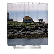 Classic Egg Rock Shower Curtain