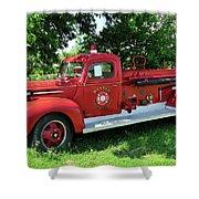 Classic Fire Truck Shower Curtain