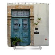 Classic House Entrance In Old Nicosia Shower Curtain