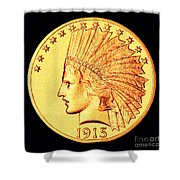 Classic Indian Head Gold Shower Curtain