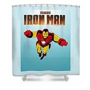 Classic Iron Man Shower Curtain