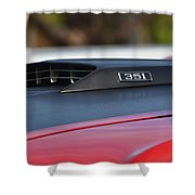 Classic Mach 1 Hood Scoop Shower Curtain