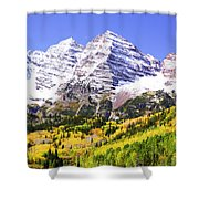 Classic Maroon Bells Shower Curtain