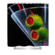 Classic Martini Shower Curtain